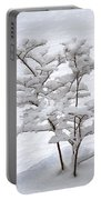 Dogwood In Snow Portable Battery Charger