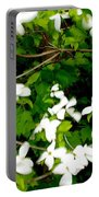 Dogwood In The Wind Portable Battery Charger