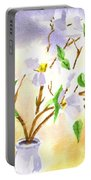 Dogwood In Watercolor Portable Battery Charger