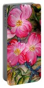 Dogwoods In Pink Portable Battery Charger