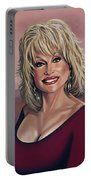 Dolly Parton 2 Portable Battery Charger by Paul Meijering