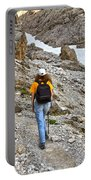 Dolomiti - Hiker In Val Setus Portable Battery Charger