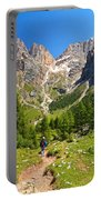 Dolomiti -landscape In Contrin Valley Portable Battery Charger
