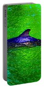 Dolphin In The Shallows Portable Battery Charger