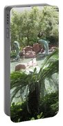 Dolphin Pond And Garden Green Portable Battery Charger