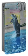 Dolphin Walking On Water Digital Art Portable Battery Charger