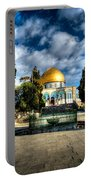 Dome Of The Rock Hdr Portable Battery Charger by David Morefield
