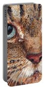 Domestic Tabby Cat Portable Battery Charger