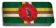 Dominica Flag Vintage Distressed Finish Portable Battery Charger