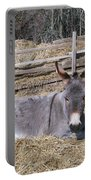 Donkey In Hay Portable Battery Charger