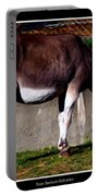 Donkey With Oil Painting Effect Portable Battery Charger