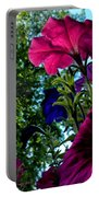 Donna's Blooming Petunias Portable Battery Charger