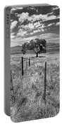 Don't Fence Me In - Black And White Portable Battery Charger