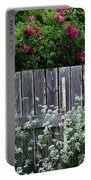 Don't Fence Me In - Wild Roses - Old Fence Portable Battery Charger