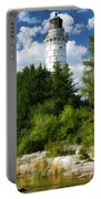 Door County Cana Island Vertical Panorama Portable Battery Charger