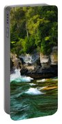 Door County Cave Point Cliffs Portable Battery Charger