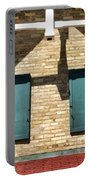 Door County Eagle Bluff Lighthouse Shutters Portable Battery Charger by Christopher Arndt