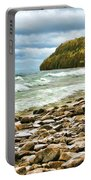 Door County Porcupine Bay Waves Portable Battery Charger