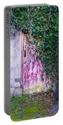 Door Covered In Ivy Portable Battery Charger