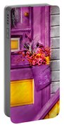Door - Lavender Portable Battery Charger by Mike Savad