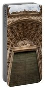 Door Of Assumption Of The Seville Cathedral Portable Battery Charger
