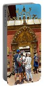 Doorway In Bhaktapur Durbar Square In Bhaktapur-nepal Portable Battery Charger