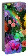 Double Dahlia Flower Party Portable Battery Charger