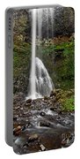 Double Falls In Silver Falls State Park In Oregon Portable Battery Charger