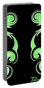 Double Green Swirl Portable Battery Charger