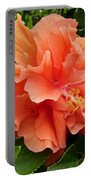Double Peach Hibiscus Portable Battery Charger