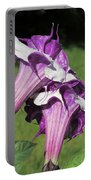 Double Purple Datura 8 Portable Battery Charger