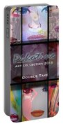 Double Take Art Collection Portable Battery Charger