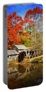 Down By The Old Mill Stream  Portable Battery Charger by Lynn Bauer