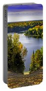 Down Hill Into Fall Portable Battery Charger