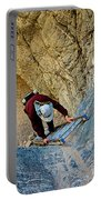 Down The Ladder In Big Painted Canyon Trail In Mecca Hills-ca  Portable Battery Charger