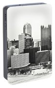 Cold Winter Day In Pittsburgh Pennsylvania Portable Battery Charger