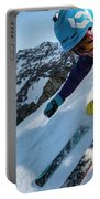 Downhill Skiier In Portillo, Chile Portable Battery Charger