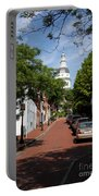 Downtown Annapolis With Maryland State House Cupola Portable Battery Charger