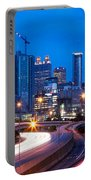 Downtown Atlanta At Dusk Portable Battery Charger