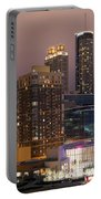 Downtown Atlanta Skyline At Dusk Portable Battery Charger