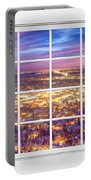 Downtown Boulder Colorado City Lights Sunrise  Window View 8lg Portable Battery Charger