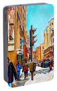 Downtown City Life Portable Battery Charger