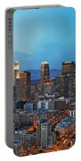 Downtown Los Angeles Portable Battery Charger by Kelley King