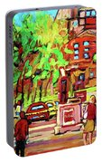 Downtown Montreal Mcgill University Streetscenes Portable Battery Charger