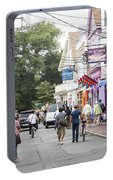 Downtown Scene In Provincetown On Cape Cod In Massachusetts Portable Battery Charger