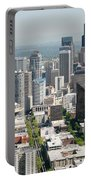Downtown Skyline Of Seattle Portable Battery Charger