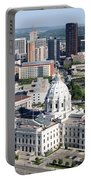 Downtown Skyline St. Paul Minnesota Portable Battery Charger