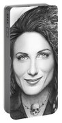 Dr. Lisa Cuddy - House Md Portable Battery Charger by Olga Shvartsur