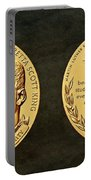 Dr Martin Luther King Jr And Coretta Scott King Bronze Medal Art Portable Battery Charger