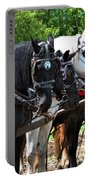 Draft Horses All In A Row Portable Battery Charger